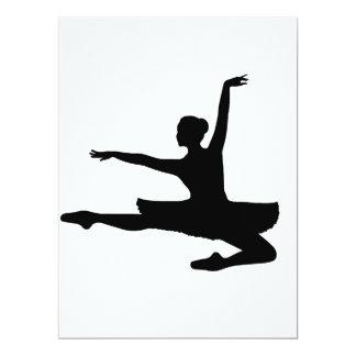 BALLERINA JETÉ (ballet dancer silhouette) ~ Card