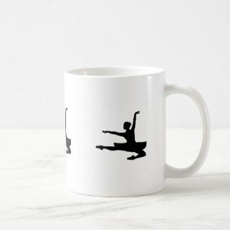 BALLERINA JETÉ (ballet dancer silhouette) ~ Coffee Mug