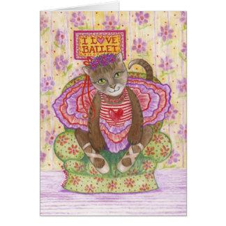 Ballerina Kitty Card