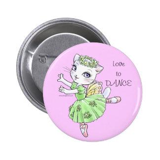 Ballerina Kitty Customizable Buttons