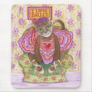 Ballerina Kitty Mouse Pad
