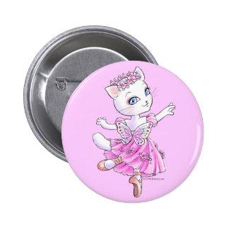 Ballerina Kitty (Pink) Button