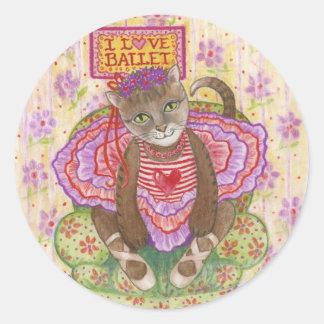 Ballerina Kitty Stickers