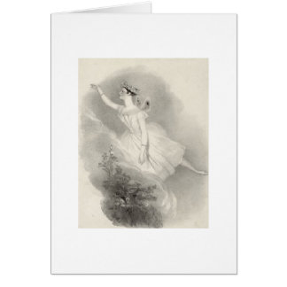 Ballerina Marie Taglioni Card
