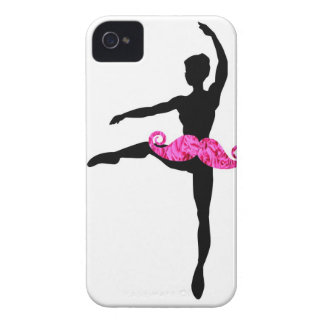 Ballerina Moustache iPhone 4 Covers