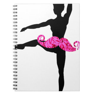 Ballerina Moustache Notebook
