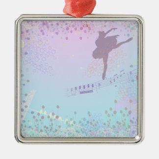 Ballerina, Music, Cat, Horse fantasy for girls Square Metal Christmas Ornament