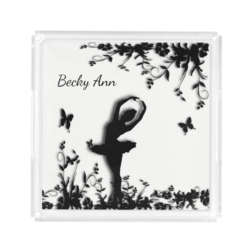 Ballerina Name Vanity Tray