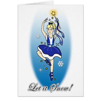 Ballerina Non-Denominational Holidays Blank Inside Greeting Card