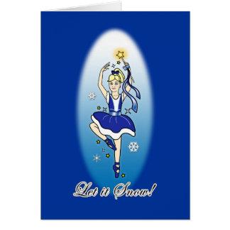 Ballerina Non-Denominational Holidays Greeting Card