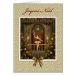 Ballerina Nutcracker French Joyeux Noël Card
