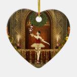 Ballerina Nutcracker Joyeux Noël Heart Ornament