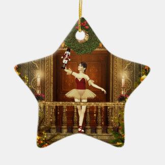 Ballerina Nutcracker Personlized Star Ornament