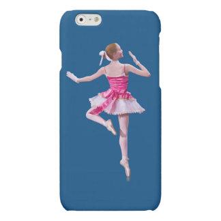 Ballerina on Blue Matte iPhone 6 Case