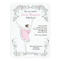 Ballerina On Her Toes Invitation
