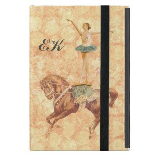 Ballerina on Horseback, Monogram Cover For iPad Mini