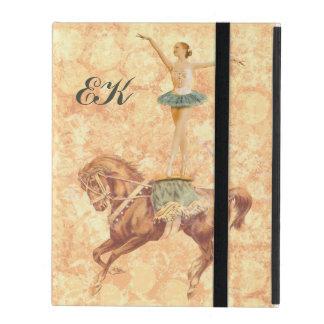Ballerina on Horseback, Monogram iPad Folio Case