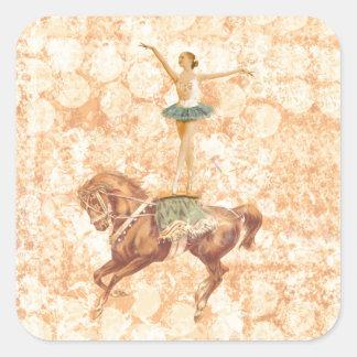 Ballerina on Horseback Square Sticker
