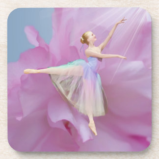 Ballerina on Pink and Blue Set of 6 Coasters