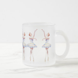 Ballerina On Pointe  Customizable Frosted Glass Coffee Mug