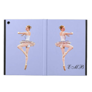 Ballerina On Pointe, Customizable Monogram iPad Air Cover