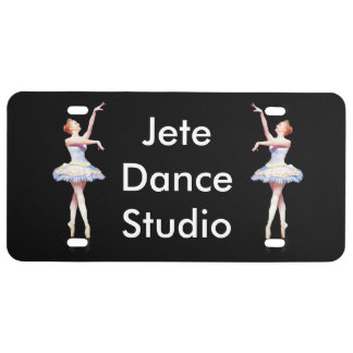 Ballerina On Pointe Customizable Text License Plate