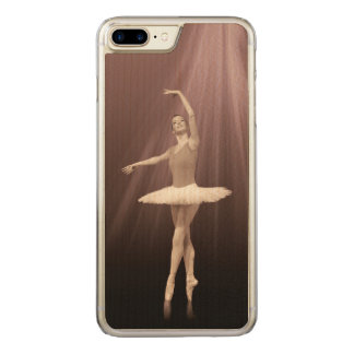 Ballerina On Pointe in Russet Tint Carved iPhone 7 Plus Case