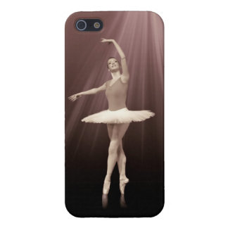 Ballerina On Pointe in Russet Tint Cover For iPhone SE/5/5s