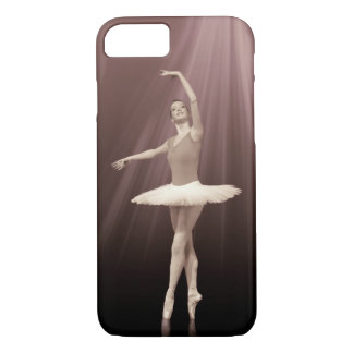 Ballerina On Pointe in Russet Tint iPhone 7 Case