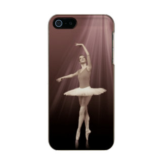 Ballerina On Pointe in Russet Tint Metallic Phone Case For iPhone SE/5/5s