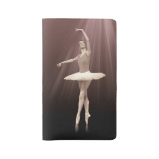 Ballerina On Pointe in Russet Tint Large Moleskine Notebook Cover With Notebook