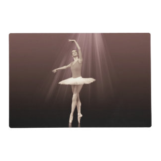 Ballerina On Pointe in Russet Tint Placemat