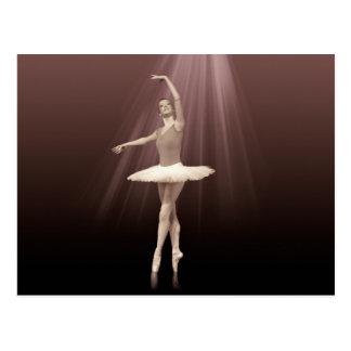 Ballerina On Pointe in Russet Tint Postcard