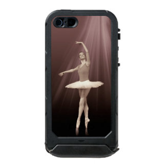 Ballerina On Pointe in Russet Tint Waterproof iPhone SE/5/5s Case