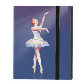 Ballerina On Pointe in Spotlight iPad Cover