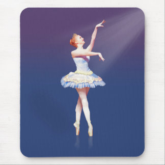 Ballerina On Pointe in Spotlight Mouse Pad