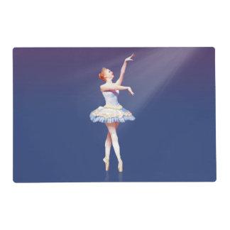 Ballerina On Pointe in Spotlight Placemat