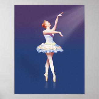 Ballerina On Pointe in Spotlight Poster