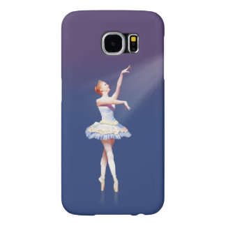 Ballerina On Pointe in Spotlight Samsung Galaxy S6 Cases