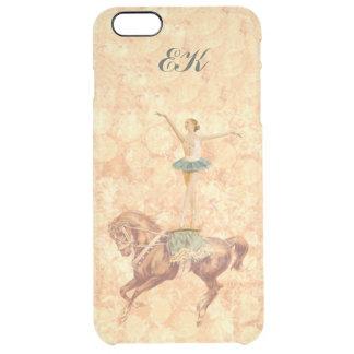 Ballerina On Pointe on Horseback, Monogram Clear iPhone 6 Plus Case