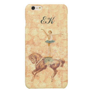 Ballerina On Pointe on Horseback, Monogram Glossy iPhone 6 Plus Case