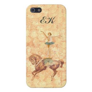Ballerina On Pointe on Horseback, Monogram iPhone SE/5/5s Cover