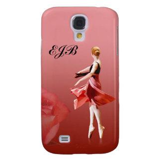 Ballerina On Pointe with Customizable Monogram Samsung S4 Case
