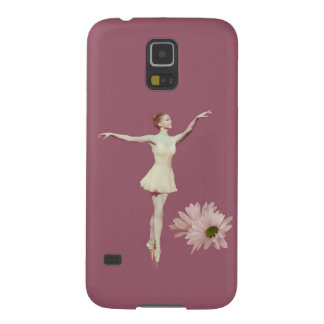 Ballerina On Pointe with Daisies Customizable Case For Galaxy S5