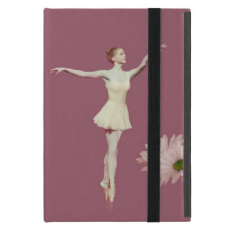 Ballerina On Pointe with Daisies Customizable Covers For iPad Mini