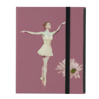 Ballerina On Pointe with Daisies Customizable iPad Cover