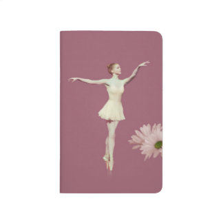 Ballerina On Pointe with Daisies Customizable Journal