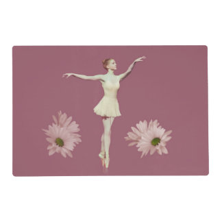 Ballerina On Pointe with Daisies Customizable Placemat