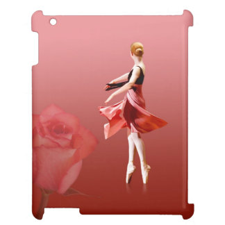 Ballerina On Pointe with Red Rose iPad Covers