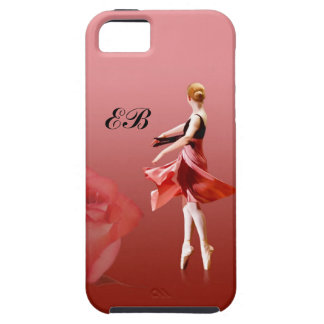 Ballerina On Pointe with Red Rose iPhone SE/5/5s Case